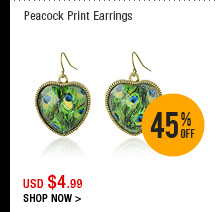 Peacock Print Earrings