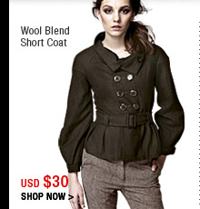 Wool Blend Short Coat