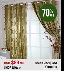 Green Jacquard Curtains