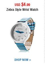 Zebra Style Wrist Watch