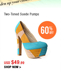 Two-Toned Suede Pumps