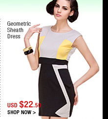 Geometric Sheath Dress