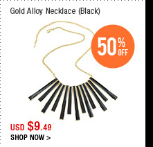 Gold Alloy Necklace (Black)