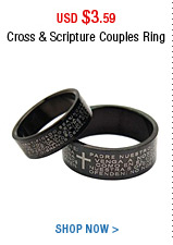 Cross & Scripture Couples Ring