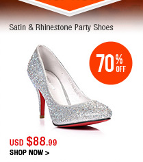 Satin & Rhinestone Party Shoes