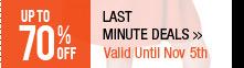 Last Minute Deals>>