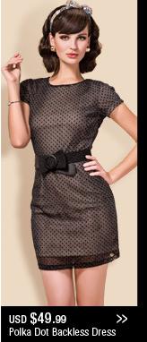 Polka Dot Backless Dress