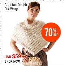 Genuine Rabbit Fur Wrap