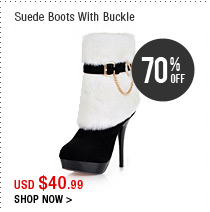 Suede Boots With Buckle