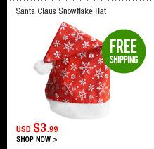 Santa Claus Snowflake Hat