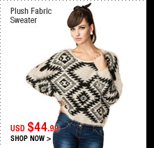 Plush Fabric Sweater