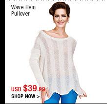 Wave Hem Pullover