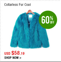 Collarless Fur Coat