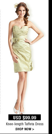 Knee-length Taffeta Dress