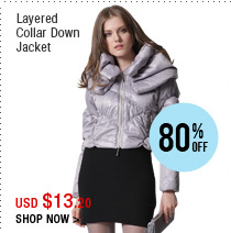 Layered Collar Down Jacket