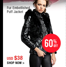 Fur Embellished Puff Jacket