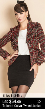 Tailored Collar Tweed Jacket