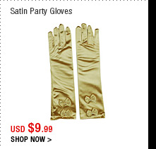 Satin Party Gloves