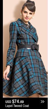 Lapel Tweed Coat
