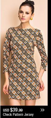 Check Pattern Jersey