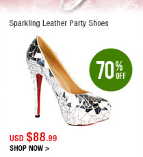 Sparkling Leather Party Shoes