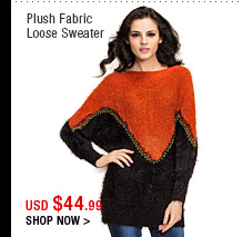 Plush Fabric Loose Sweater