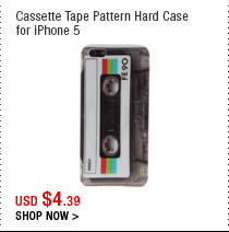 Cassette Tape Pattern Hard Case for iPhone 5