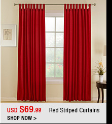 Red Striped Curtains