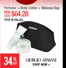 Perfume + Body Lotion + Makeup Bag