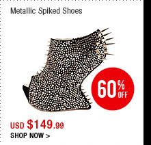 Metallic Spikes Shoes