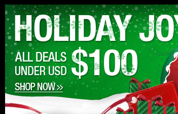 Holiday Joy ALL Deals Under USD $100