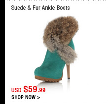 Suede & Fur Ankle Boots