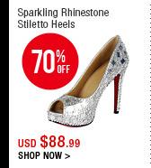 Sparkling Rhinestone Stiletto Heel