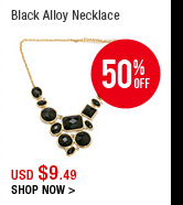 Black Alloy Necklace