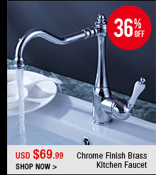 Chrome Finish Brass Kitchen Faucet