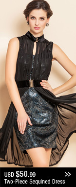 Two-Piece Sequined Dress