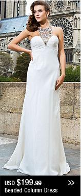 Beading Column Dress