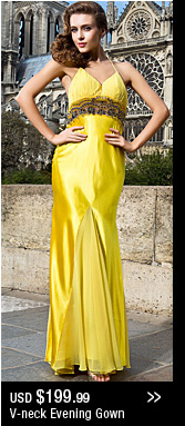 V-neck Evening Gown