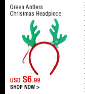 Green Antlers Christmas Headpiece