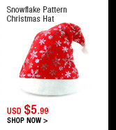 Snowflake Pattern Christmas Hat