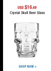 Crystal Skull Beer Glass