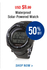 Waterproof Solar-Powered Watch