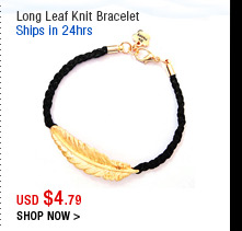 Long Leaf Knit Bracelet
