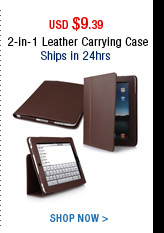 2-in-1 Leather Carrying Case