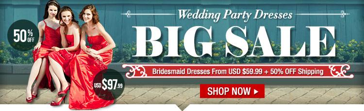 BIG Sale On Wedding Party Dresses