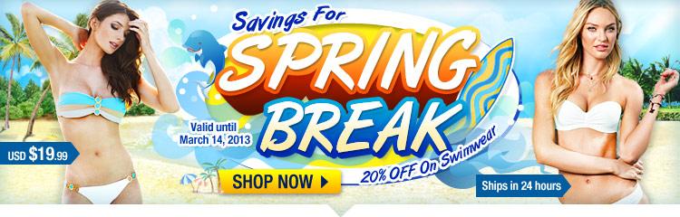 Savings For Spring Break