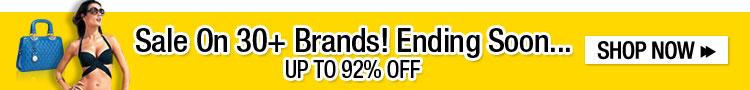Sale On 30+ Brands! Ending Soon...