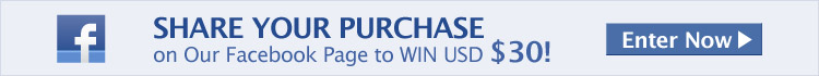SHARE Your Purchase on Our Facebook Page to WIN USD $30!