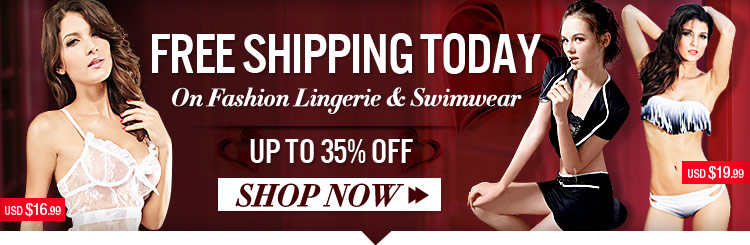 Free Shipping On Fashion Lingerie & Swimwear