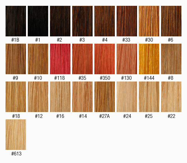 Clip In Ombre Hair Extension Two Tones Gradient Synthetic Hair